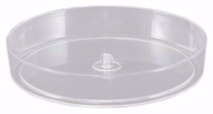 "Picture of Diamond Line 8"" Designer Dish -  Clear"