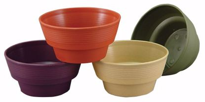 "Picture of Diamond Line 8"" Round Planter - Woodlands Assortment"