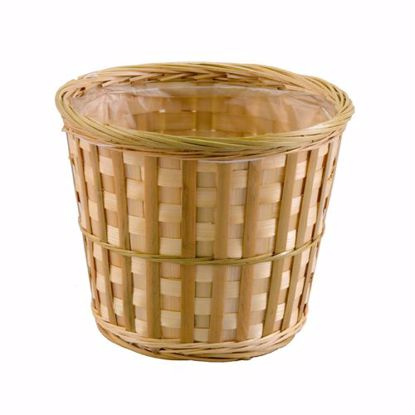 """Picture of 6.5"""" Natural Bamboo Azalea Basket"""