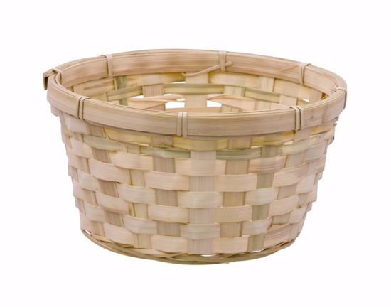"""Picture of 8"""" Bamboo Low Bowl Basket"""