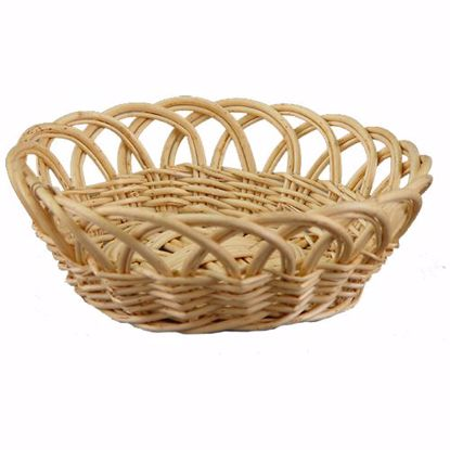 """Picture of 14"""" Round Willow Open Weave Basket-Natural"""