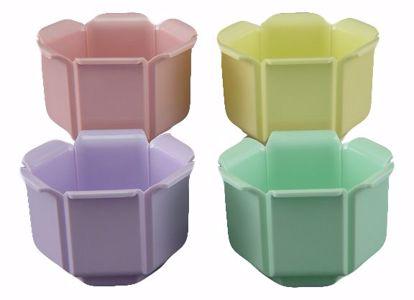 """Picture of Diamond Line Tulip Vase 4.5"""" Soft Tone Assortment"""