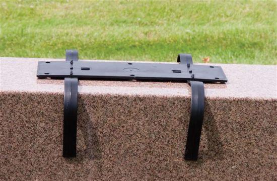 Picture of Diamond Line Saddle Tite Monument Plaque