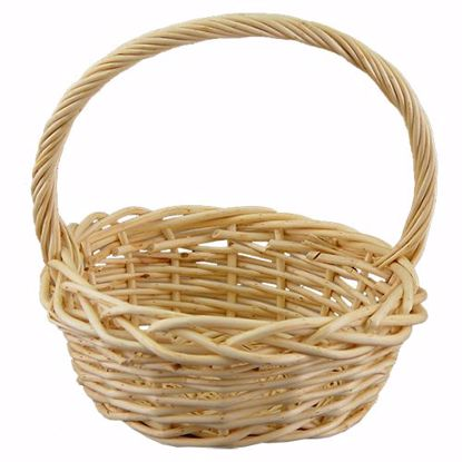 "Picture of 13"" Round Willow Basket w/Handle"