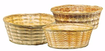 """Picture of 6"""" Bamboo Low Bowl with Whipped Rim-Natural Weave"""
