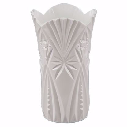 "Picture of Diamond Line 10"" Her Majesty Vase - White"