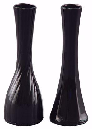 "Picture of Diamond Line 9"" Bud Vase - Black (2 Designs)"
