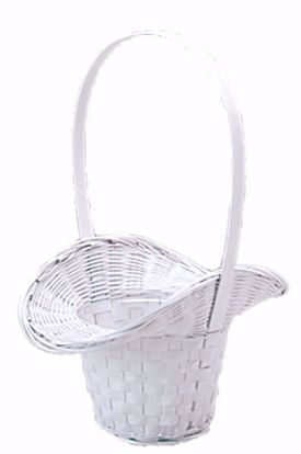 """Picture of 5"""" White Painted Princess Basket W/Liner"""