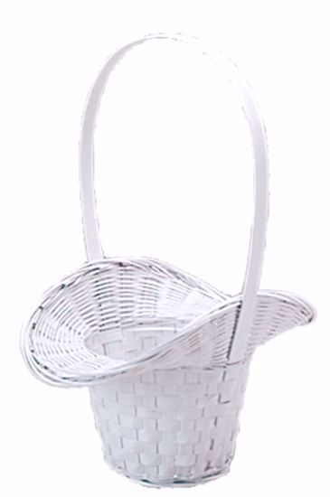 "Picture of 5"" White Painted Princess Basket W/Liner"