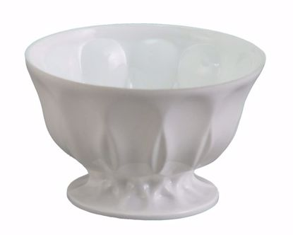 """Picture of Diamond Line Candy Dish 6""""-White"""