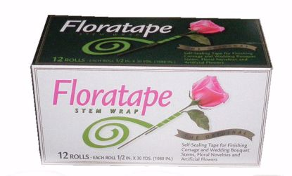 """Picture of Floratape 1/2"""" Stem Wrap Floral Tape (Green)"""