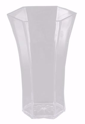 """Picture of Diamond Line 10"""" Rose Vase - Crystal Clear"""