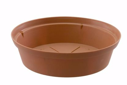 "Picture of Diamond Line 12"" Saucer - Clay"