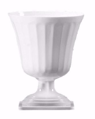 Picture of Diamond Line Large Classic Urn - White