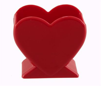 """Picture of Diamond Line 4.5"""" Heart Vase - Red"""