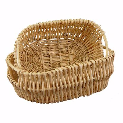 Picture of Oval Willow Baskets (Set of 2)-Natural