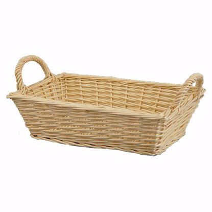 """Picture of 12"""" Willow Tray with Ear Handles-Bleached Natural"""