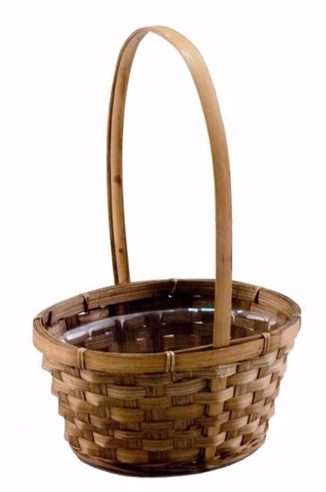 "Picture of 7"" Stained Oval Birthday Basket"