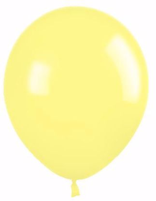 """Picture of 12"""" Latex Balloons:  Yellow"""