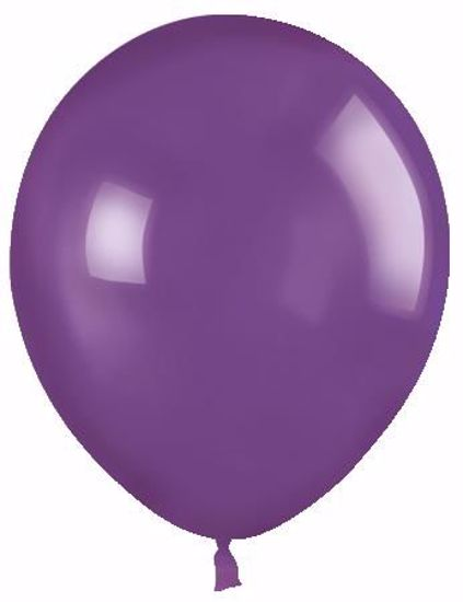 """Picture of 12"""" Latex Balloons:  Purple"""
