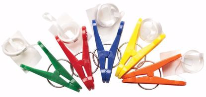 Picture of 16 Gram Asst Primary Color Clip-N-Weights w/Ribbon