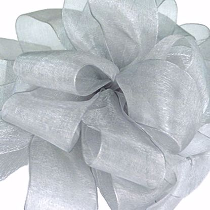 Picture of #3 Chiffon Ribbon - Silver