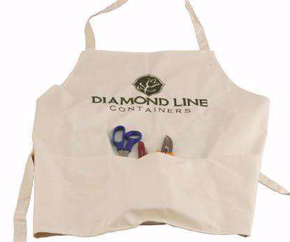 Picture of Diamond Line Embroidered Designer Pocket Apron