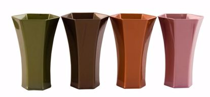 """Picture of Diamond Line 10"""" Rose Vase - Timeless Collection"""