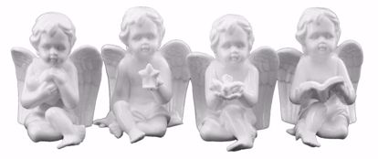 Picture of 4 Assorted Ceramic Angels