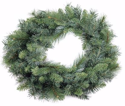 """Picture of Evergreen Wreath-Mixed Pine (24"""")"""
