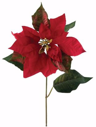 """Picture of Red Poinsettia Stem (27"""")"""