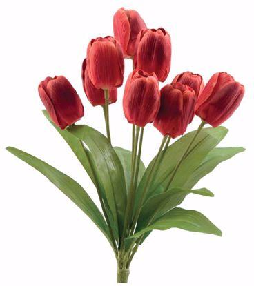 "Picture of Red Tulip Bush (9 Stems, 18.5"")"