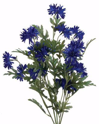 "Picture of Blue Cornflower Bush (7 Stems, 21"")"