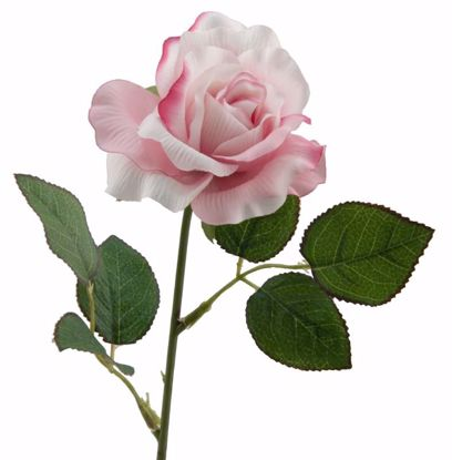 """Picture of 19.5"""" Pink Single Rose Stem"""