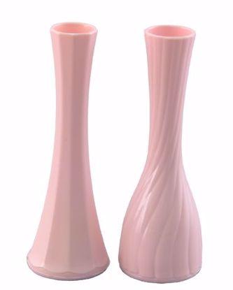 "Picture of Diamond Line 9"" Bud Vase - Pink (2 Designs)"