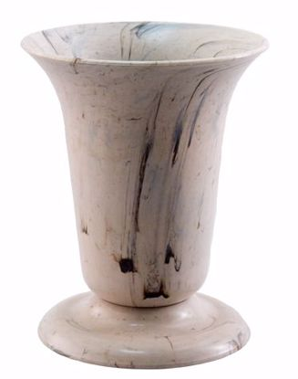 Picture of Diamond Line Tall Sympathy Urn - Alabaster