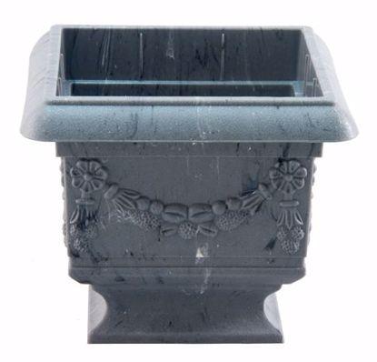"Picture of Diamond Line Baroque Pedestal Planter 4""-Marble"