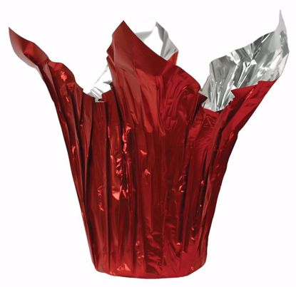 """Picture of 6"""" Kwik-Cover® Metallic Red/Silver"""