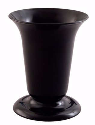 Picture of Diamond Line Tall Sympathy Urn - Black