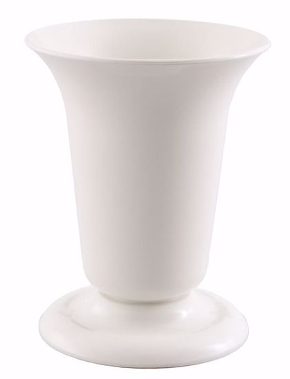 Picture of Diamond Line Tall Sympathy Urn - White