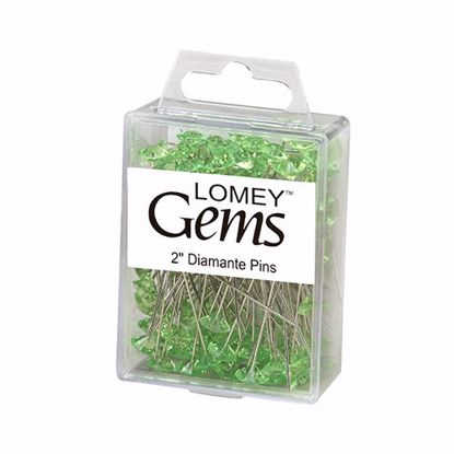 "Picture of Oasis 2"" Lomey Diamante Pins - Apple Green"
