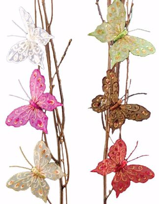 """Picture of 4.75"""" Butterfly Clips (6 Assorted)"""