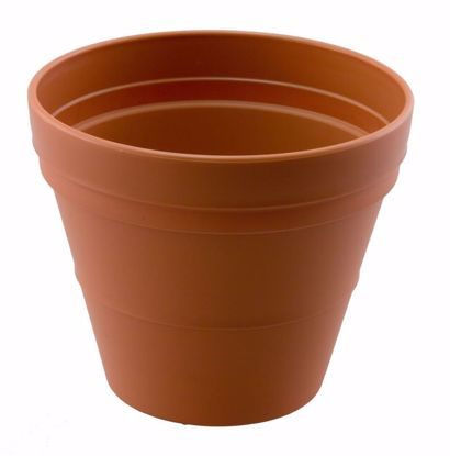 "Picture of Diamond Line 10"" Garden Pot - Clay"