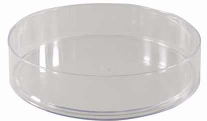 """Picture of Diamond Line 7.25"""" Round Tray - Clear"""