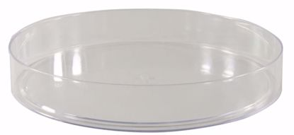 "Picture of Diamond Line 10"" Design Saucer/Tray - Clear"