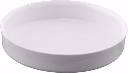 """Picture of Diamond Line 10"""" Design Saucer/Tray - White"""