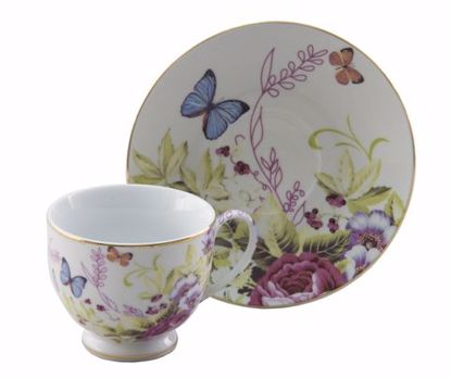 Picture of Porcelain Cup and Saucer Set with Butterflies