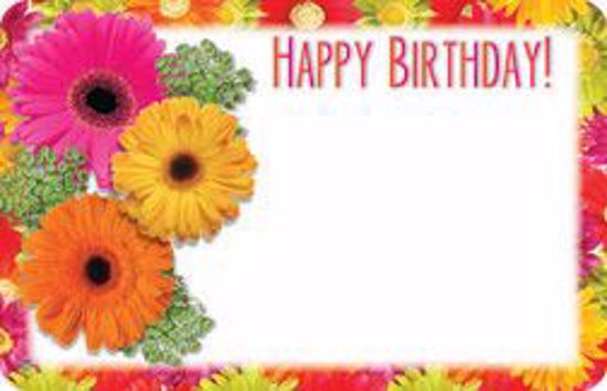 Picture of Happy Birthday Enclosure Card (PACK 50)