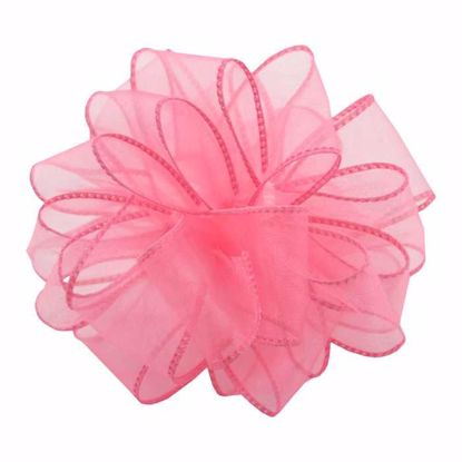 Picture of #9 Deluxe Sheer Wired Ribbon - Pink