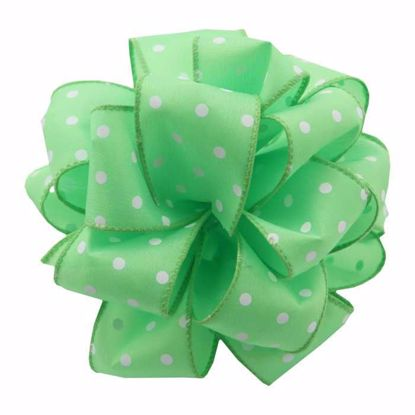 Picture of #9 Deluxe Wired Dots Ribbon - Lime
